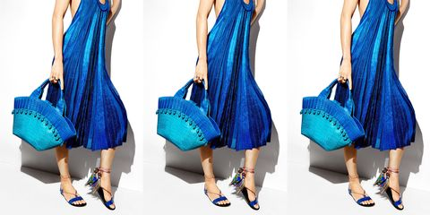 Clothing, Blue, Shoulder, Textile, Bag, Pattern, Joint, Aqua, Electric blue, Teal,