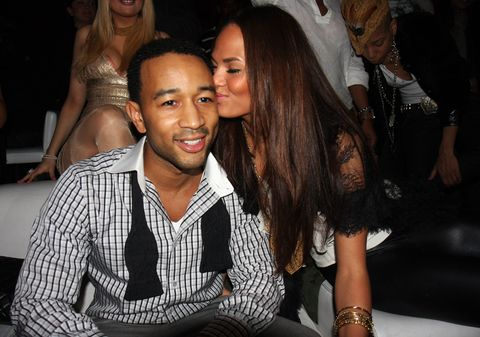 <p>At John Legend's birthday party in 2008</p>