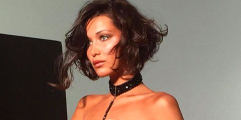 Bella Hadid Strips Down for a Secret Photo Shoot