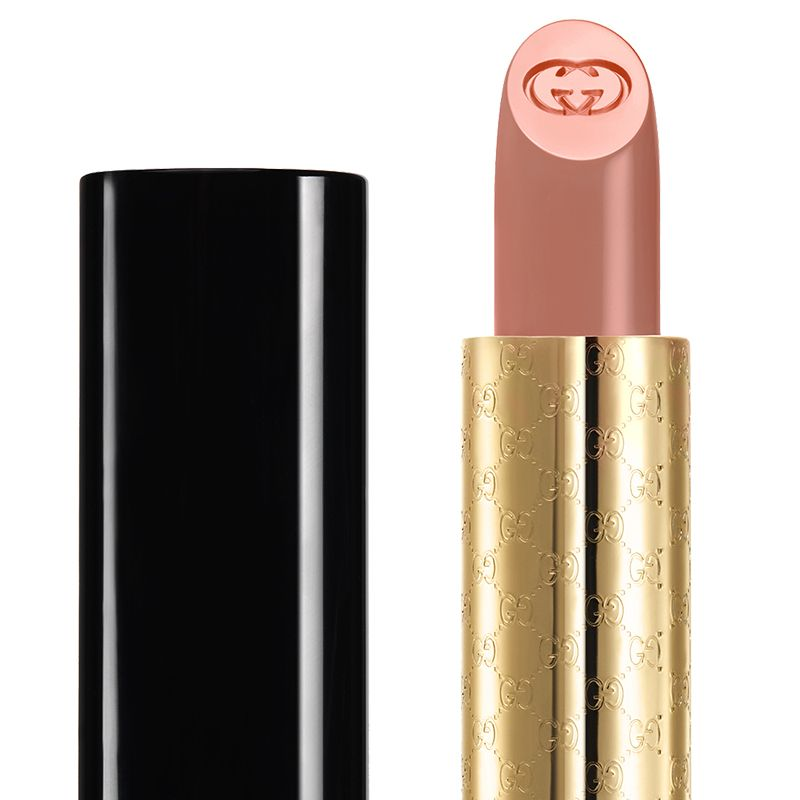 "<p><strong>Gucci</strong> Moisture-Rich Lipstick in Carnation, $40, <a href=""http://www.saksfifthavenue.com/main/ProductDetail.jsp?PRODUCT%3C%3Eprd_id=845524446742713&site_refer=GGLPRADS001&prod_id=0442513921715&cagpspn=pla&CAWELAID=500002830013406071&catargetid=500002830005596486&cadevice=c&gclid=CLulkJjGjMwCFRRZhgod2lcI3Q"" target=""_blank"">saksfifthavenue.com</a>.</p>"