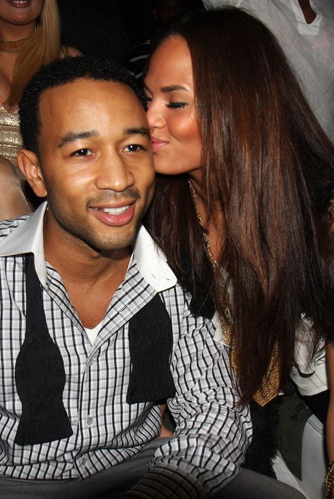 At John Legend's birthday party in 2008