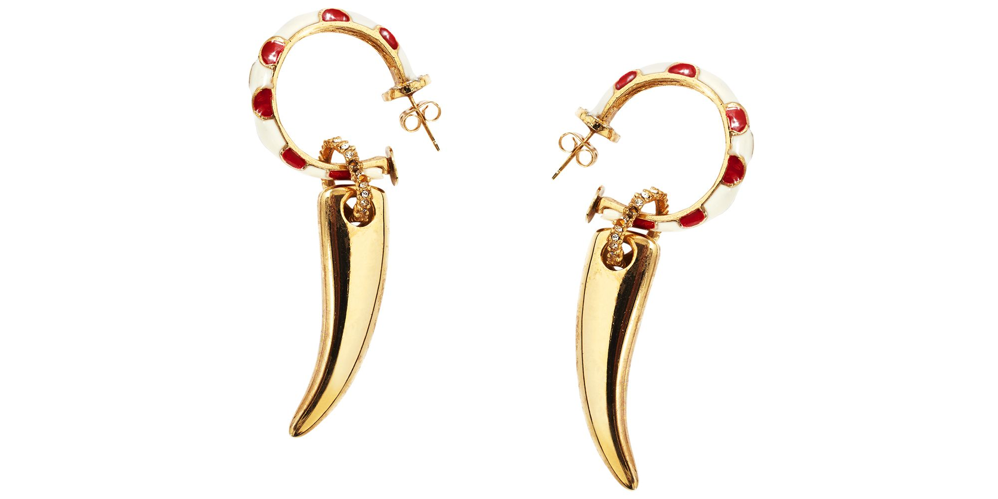"<p>Go for a wild mix of metals and materials.</p><p><strong>Maison Mayle</strong> earrings, $275, Capitol, Charlotte, NC, 704-366-0388<span class=""redactor-invisible-space"">. <br></span></p>"