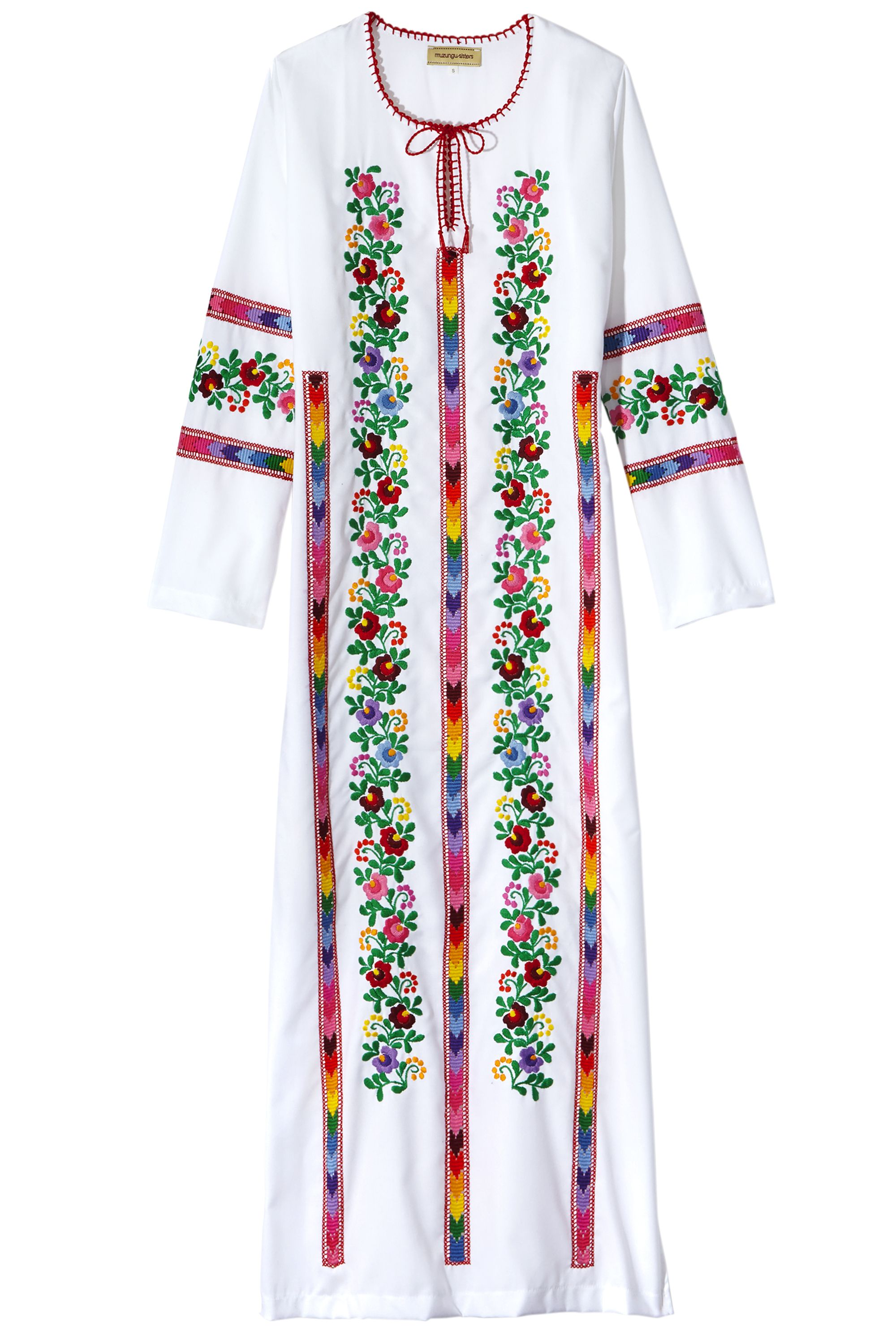"<p>A colorful caftan transitions seamlessly from the pool to the party.</p><p><strong>STYLIST'S TIP: </strong>Floral patterns add a feminine feel.</p><p><strong>Muzungu Sisters </strong>dress, $666, <a href=""http://www.muzungusisters.com/"">muzungusisters.com</a>. <br></p>"