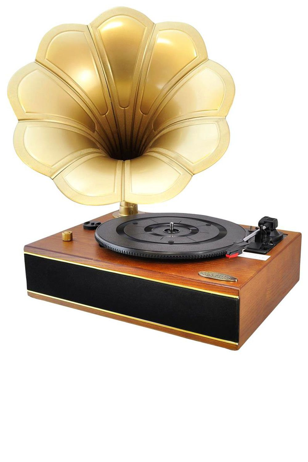 """<p><strong>Pyle</strong> turntable, $129, <a href=""""http://www.amazon.com/Pyle-PNGTT12RBT-Bluetooth-Gramophone-Phonograph/dp/B00YEH14FK/ref=sr_1_10?ie=UTF8&qid=1460748041&sr=8-10&keywords=pyle+record+player"""" target=""""_blank"""">amazon.com</a>.</p>"""