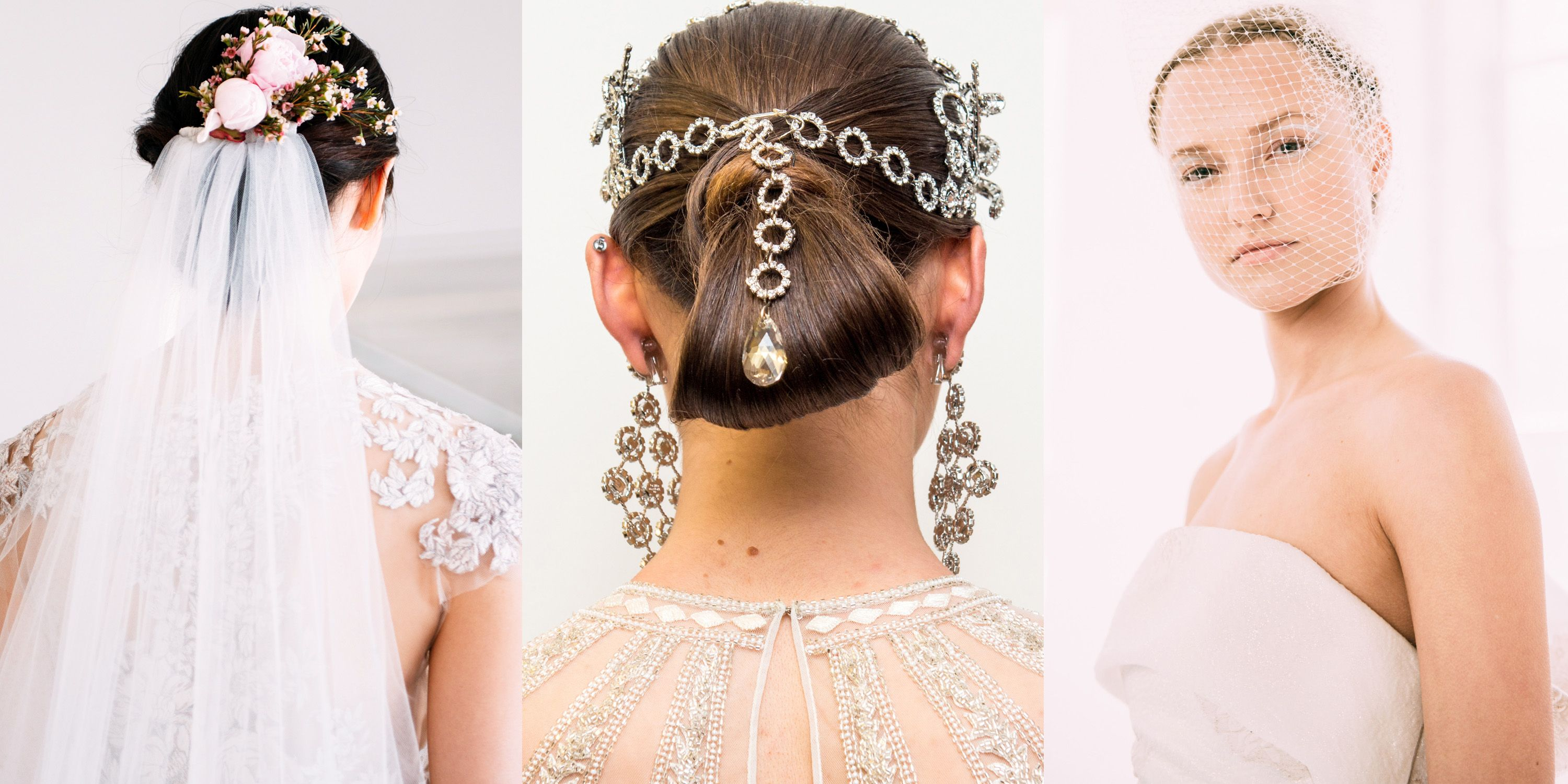 wedding hair and makeup inspiration from spring 2017 bridal
