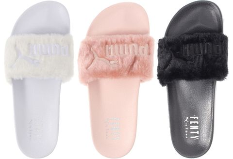 460dd8499a60 Shop Rihanna s Fur Slides for Puma - Rihanna Puma x Fenty Shoes