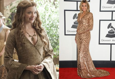<p><strong>Margaery Tyrell: </strong>Attempting to befriend mother-in-law Cersei Lannister</p><p><strong>Ciara:</strong> In Pucci at the 2014 Grammys</p>