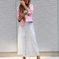 """<p>Modernize your suiting in airy culottes and a jacket that pops. For day-to-night, the blazer pulls your look together for the office, then take it off to reveal a cami or crop top for summer evenings out. <a href=""""https://www.instagram.com/brookecarriehil/"""">@brookecarriehil</a> wearing <em>ESCADA</em></p>"""