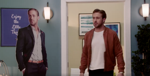 """Ryan Gosling Responds to """"Hey Girl"""" Meme in Hilarious Video with Russell Crowe"""