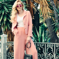 """<p>When you're heading to the office this summer, don't shy away from color. Reach for feminine suiting in a soft shade of pink—<i>the</i> color of the season. Keep your look tailored by opting for a pair of high-waisted pants and blazer, styled with a simple T-shirt and minimal accessories. <a href=""""https://www.instagram.com/societygrl/"""">@societygrl</a> wearing <em>ESCADA Toul Pants, $1,075, <a href=""""http://bit.ly/1rhMwC1"""">us.escada.com</a></em><br></p><p><em></em></p>"""