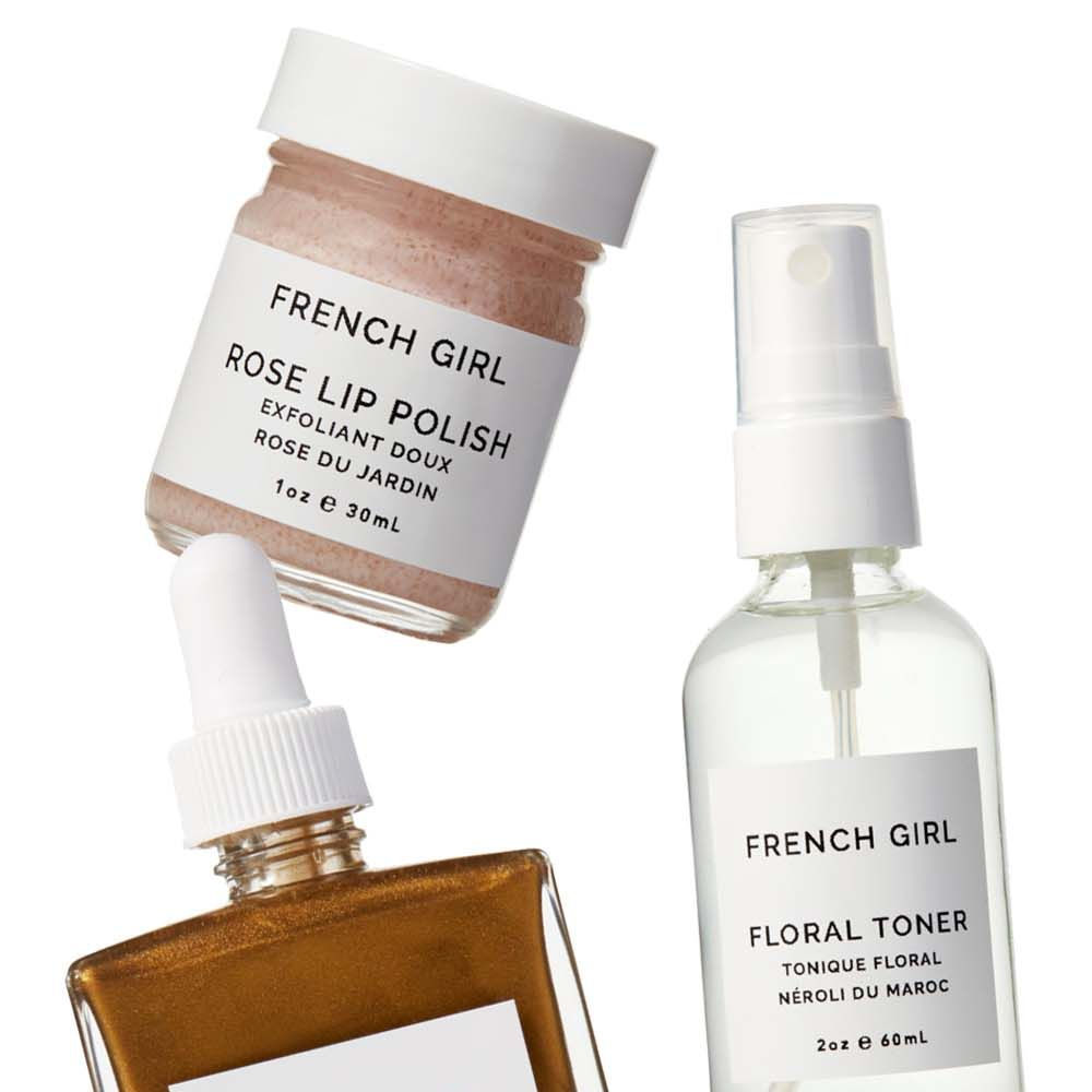 "<p>The minimal, <em>très</em><em> chic</em> packaging drew us in, but it's the pretty scents and simple, glow-boosting ingredients that keep us hooked. </p><p><strong>French Girl Organics</strong> Rose <a href=""https://www.etsy.com/listing/236785486/rose-lip-polish-rose-collection?ref=shop_home_listings"" target=""_blank"">Lip Polish</a>, $15&#x3B; Neroli <a href=""https://www.etsy.com/listing/236661849/neroli-floral-toner-o-neroli-collection?ref=shop_home_listings"" target=""_blank"">Floral Toner</a>, $18&#x3B; and <a href=""https://www.etsy.com/listing/152110123/bronzing-oil-lumiere-collection?ref=shop_home_listings"" target=""_blank"">Bronzing Oil</a>, $40, <a href=""https://www.etsy.com/shop/FrenchGirlOrganics?ref=l2-shopheader-name"" target=""_blank"">etsy.com</a>.</p>"