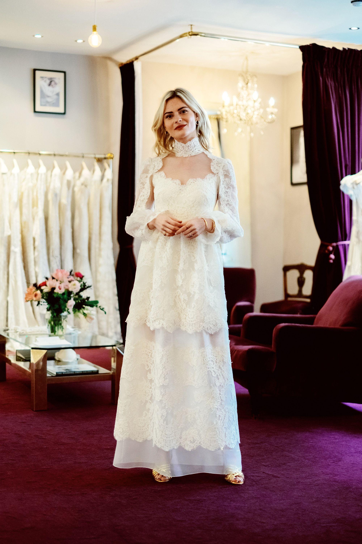 Pandora Sykes Wedding Dress Behind The Scenes Of Pandora