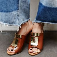 "<p><strong>What is your favorite way to accessorize?</strong></p><p><strong></strong>I like classic shoes. A good mule is my go-to because it's chic and easy. A few years ago, I cut my hair really short, and there was the awkward grow-out phase, so I began wearing bandanas and things in my hair to distract. But it became this thing people attached to me like, <em>the girl that wears the headscarf</em>. So I stopped doing that, then started wearing sculptural earrings. I'm sort of over that now, too, and looking for the next thing.</p><p><em><br></em></p><p><em>See by Chloe 'Anita' Mule Sandal, </em><a href=""http://shop.nordstrom.com/s/see-by-chloe-anita-mule-sandal/4217160?&cm_mmc=Mindshare_Nordstrom-_-MayWAP-_-Hearst-_-proactive"" target=""_blank""><em>nordstrom.com</em></a></p>"
