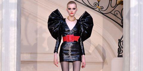 Sleeve, Waist, Fashion, Beauty, Fashion model, Embellishment, Fashion design, Trunk, Costume design, Costume,