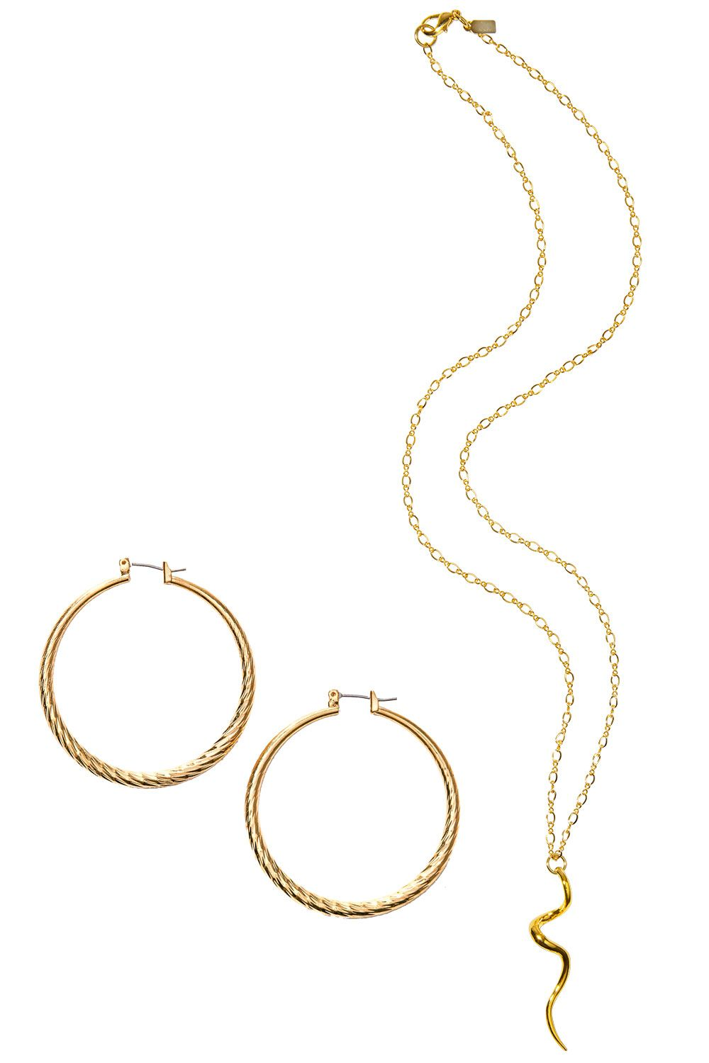 <p>From left: <strong>Kenneth Jay Lane </strong>earrings, $50, 877-953-5264;<strong> Kenneth Jay Lane </strong>necklace, $38, 877-953-5264<em></em></p>