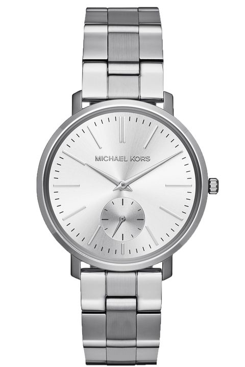 "<p> <strong>Michael Kors </strong>watch, $250, <strong><a href=""http://www.michaelkors.com/"">michaelkors.com</a>. </strong></p>"