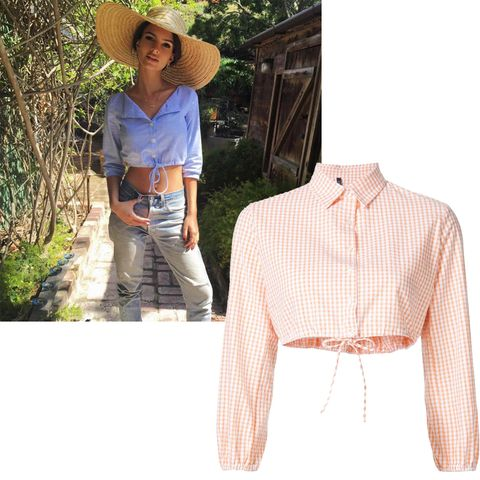 "<p>One part sweet, one part sexy, all parts fabulous—the shirt crop top is the best of both worlds. Just ask Emily Ratajkowski<span class=""redactor-invisible-space"">.</span></p><p><span class=""redactor-invisible-space""><br></span></p><p><span class=""redactor-invisible-space"">        <i><strong>Lisa Marie Fernandez </strong>shirt</i><i>, $375, </i><a href=""https://shop.harpersbazaar.com/designers/l/lisa-marie-fernandez/gingham-check-cropped-shirt-9158.html"" target=""_blank""><i><strong>shopBAZAAR.com</strong></i></a><span class=""redactor-invisible-space""><strong></strong>.<br></span></span></p>"