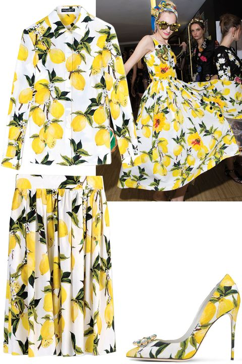 "<p>Blame it on Beyoncé, but we couldn't be more obsessed with lemon prints. Thanks to Dolce & Gabbana<span class=""redactor-invisible-space"">, dreams do come true. </span></p><p><span class=""redactor-invisible-space""><br><br> <i>Dolce & Gabbana top, $795, <strong><a href=""https://shop.harpersbazaar.com/designers/d/dolce-and-gabbana/lemon-button-up-blouse-8270.html"" target=""_blank"">shopBAZAAR.com</a></strong></i>;         <i>Dolce & Gabbana skirt, $795, <strong><a href=""https://shop.harpersbazaar.com/designers/d/dolce-and-gabbana/lemon-print-pleated-skirt-8665.html"" target=""_blank"">shopBAZAAR.com</a></strong></i><span class=""redactor-invisible-space"">; <i>Dolce & Gabbana shoes, $1,095, <strong><a href=""https://shop.harpersbazaar.com/designers/d/dolce-and-gabbana/lemon-printed-pump-8176.html"" target=""_blank"">shopBAZAAR.com</a></strong>.</i></span><br></span></p>"
