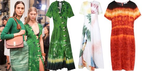 "<p>Haute and hippy, tie dye is having a major moment. Our pick? Gradient-style floaty dresses in ladylike silhouettes.</p><p>          <i> Altuzarra dress, $2,350, <strong><a href=""https://shop.harpersbazaar.com/designers/a/altuzarra/ilari-tie-dye-dress-        8831.html"" target=""_blank"">shopBAZAAR.com</a></strong>; Rosie Assoulin dress, $3,495, <strong><a href=""https://shop.harpersbazaar.com/designers/r/rosie-assoulin/gonzo-tie-dye-gown-9108.html"" target=""_blank"">shopBAZAAR.com</a></strong>; Altuzarra dress, $2,350, <strong><a href=""https://shop.harpersbazaar.com/designers/a/altuzarra/red-multi-tie-dye-dress-8975.html"" target=""_blank"">shopBAZAAR.com</a></strong><span class=""redactor-invisible-space"">.</span></i><br></p>"