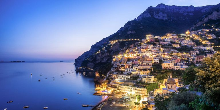 Amalfi Coast At Night Getty Images Italy Is One Of The Most Popular Vacation Destinations In World