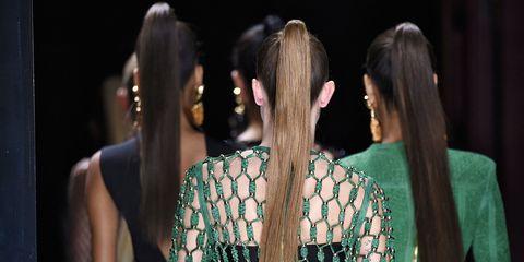 Ear, Hairstyle, Earrings, Style, Black hair, Fashion, Temple, Neck, Beauty, Long hair,
