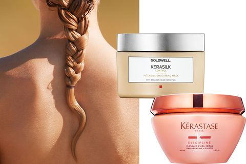 "<p>""A hair mask is like using a heavier face cream,"" says Scrivo. ""I recommend using one once a week to make hair stronger and smoother."" Pro tip: For color-treated hair, don't leave it in for more than 10 minutes, as the conditioning ingredients can force out color molecules.</p><p><strong>Kérastase</strong> Paris Discipline Masque Curl Idéal, $62.50, <a href=""http://www.kerastase.com/en/hair-care-new-discipline/masque-curl-ideal"" target=""_blank"">kerastase.com</a>; <strong>Goldwell </strong>Kerasilk Control Intensive Smoothing Mask, $44.99, <a href=""http://www.goldwell.us/products/smoothing/kerasilk/"" target=""_blank"">goldwell.us</a>. </p>"