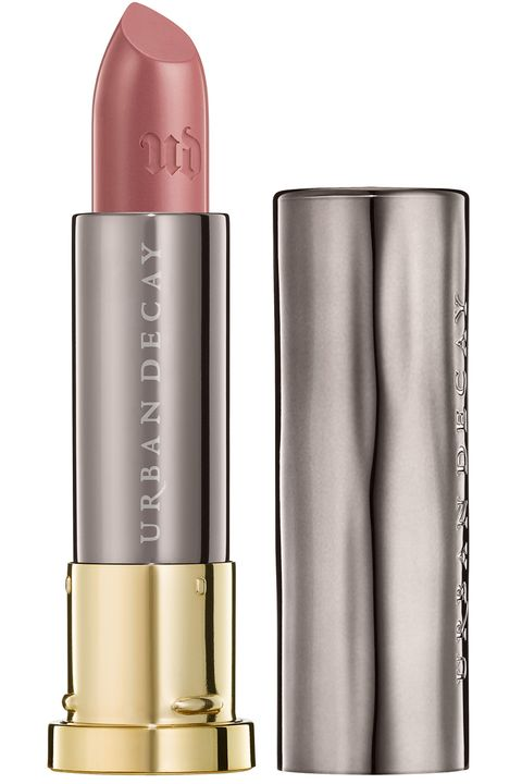 """<p>""""This is my current favorite. The perfect amount of polish for day or night.""""</p><p><strong>Urban Decay</strong> Sheer Revolution Lipstick in Sheer Liar, $22, <a  target=""""_blank"""">urbandecay.com</a>.</p>"""