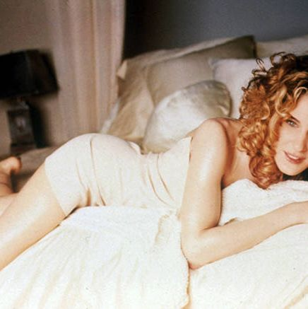 <p>As <em>Sex and the City</em>'s Carrie Bradshaw in 1998, Parker made this DKNY nude mini dress iconic for the fictional fashionista.</p>