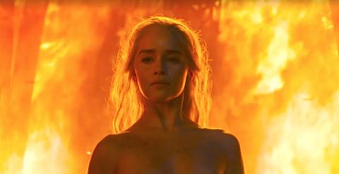 Daenerys Targaryen nude scene on Game of Thrones