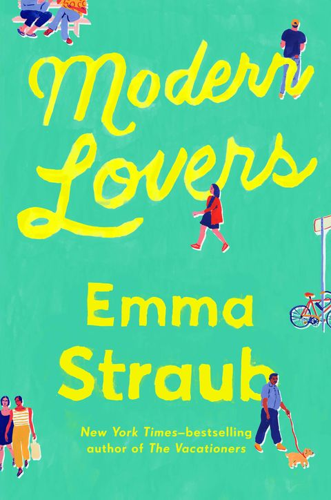 """<p>Former band mates Elizabeth, Andrew and Zoe are all married with kids and live on the same block in gentrified Brooklyn. But as they watch their children grow older, the parents realize they're each holding onto certain youthful ambitions. Bestseller Emma Straub (<i>The Vacationers</i>) gives us an insightful look into middle age, parenthood, and the funny way that passions never fade, no matter how much time passes by.</p><p><em><i>Modern Lovers</i>, $18, <a href=""""http://www.amazon.com/Modern-Lovers-Emma-Straub/dp/159463467X"""" target=""""_blank"""">amazon.com</a>. </em></p>"""