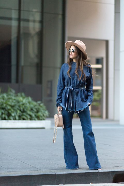 Clothing, Hat, Denim, Trousers, Shoulder, Jeans, Textile, Bag, Outerwear, Street fashion,