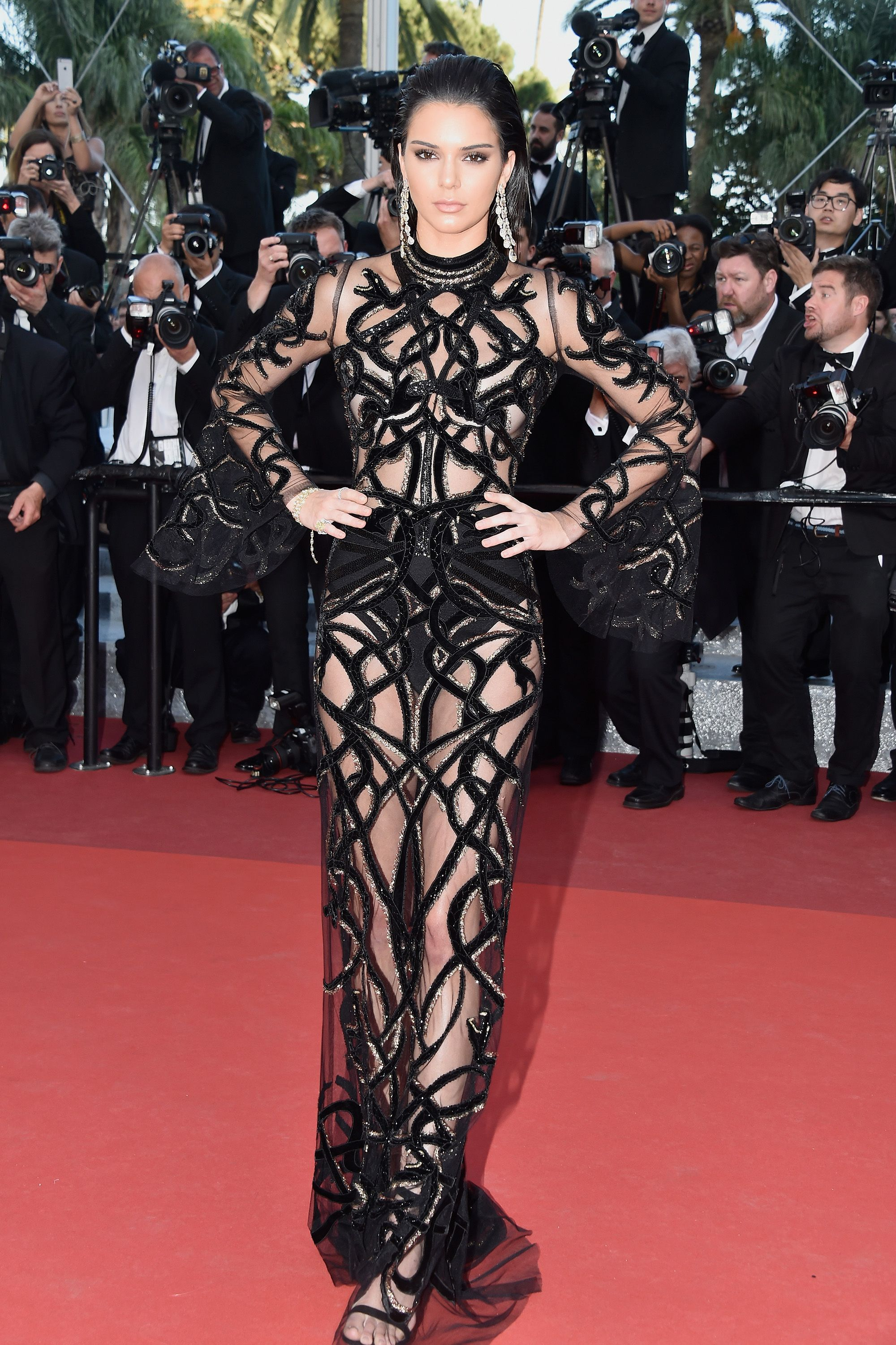 <p><strong>What:</strong> Roberto Cavalli</p><p><strong>Where: </strong><em>From The Land of the Moon</em> Premiere</p><p><strong>Why: </strong>The model proved she wasn't afraid to show it all off in this sheer couture confection.</p>