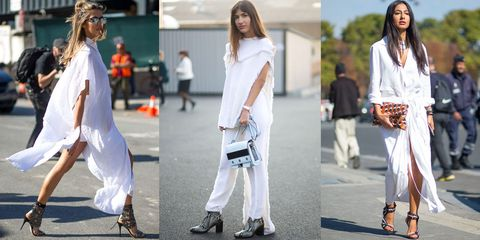 fc16baed531 All White Fashion Inspiration - White on White Street Style