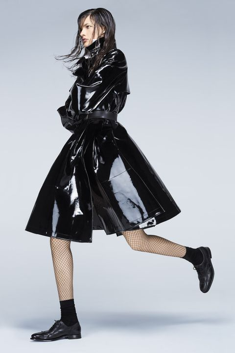 """<p><strong>Giorgio Armani </strong>coat, $6,195, and shirt, $825, 212-988-9191; Stylist's own belt; <strong>Wolford</strong> tights, $57, and socks, $29, <a href=""""http://company.wolford.com/?lang=en"""" target=""""_blank"""">wolford.com</a>; <strong>Grenson</strong> shoes, $420, <a href=""""http://www.grenson.com/us/"""" target=""""_blank"""">grenson.com</a>. </p>"""