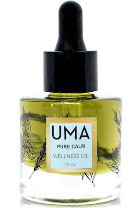 "<p>A few drops of this Ayurvedic blend of chamomile, lavender and vetiver—all the heavy hitters—on the soles of your feet and temples, behind the ears and added into the bath will holistically soothe nerves and ease anxiety after a long day. Plus, its loyal fans swear the stuff can put you to asleep better than melatonin. </p><p><strong>Uma</strong> Pure Calm Wellness Oil, $85, <a href=""http://www.umaoils.com/product/purecalm/"" target=""_blank"">umaoils.com</a>.</p>"