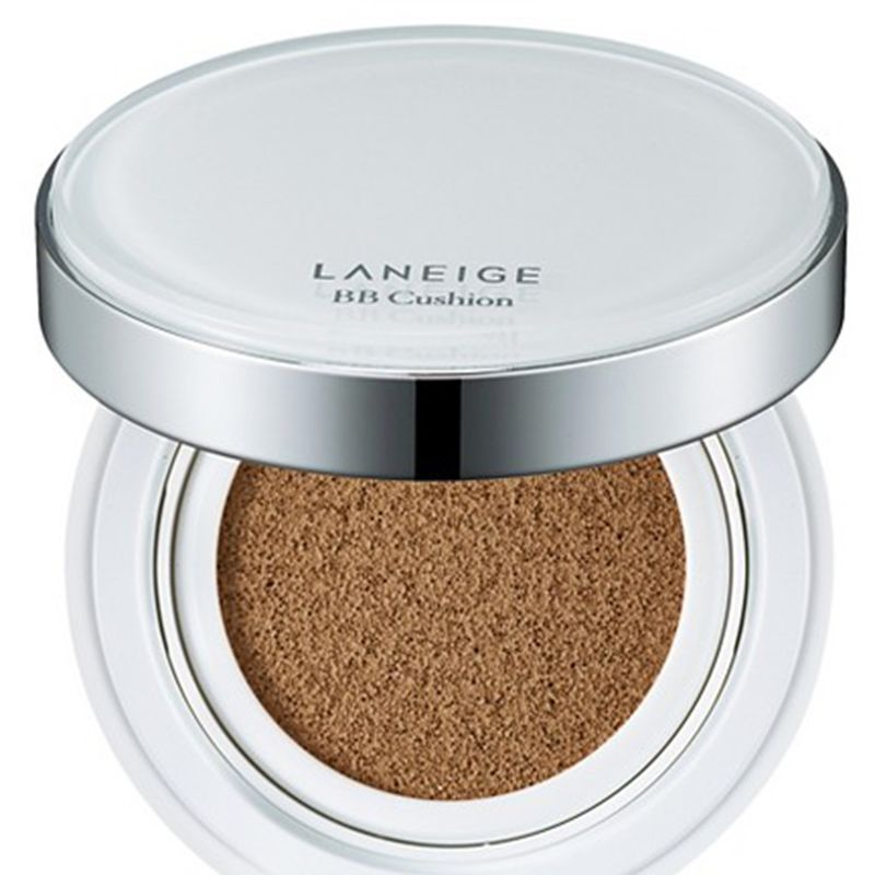"<p>Not only does this even out skin tone, but it also fades blemishes with each application.</p><p><strong>Laneige</strong> BB Cushion, $34, <a href=""http://www.target.com/p/laneige-bb-cushion/-/A-50014949"" target=""_blank"">target.com</a>.</p>"
