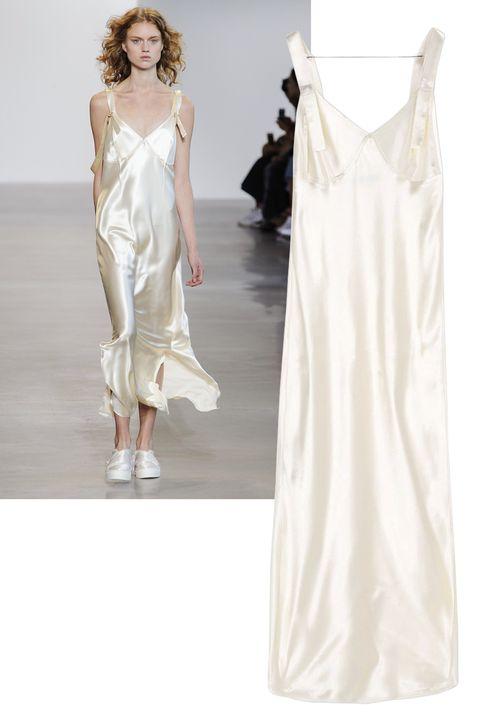 "<p><strong>Calvin Klein Collection</strong> dress, $<del>2,310</del> $1,155, <strong><a href=""https://shop.harpersbazaar.com/designers/c/calvin-klein-collection/ivory-long-dress-8809.html"" target=""_blank"">shopBAZAAR.com</a></strong>. </p>"