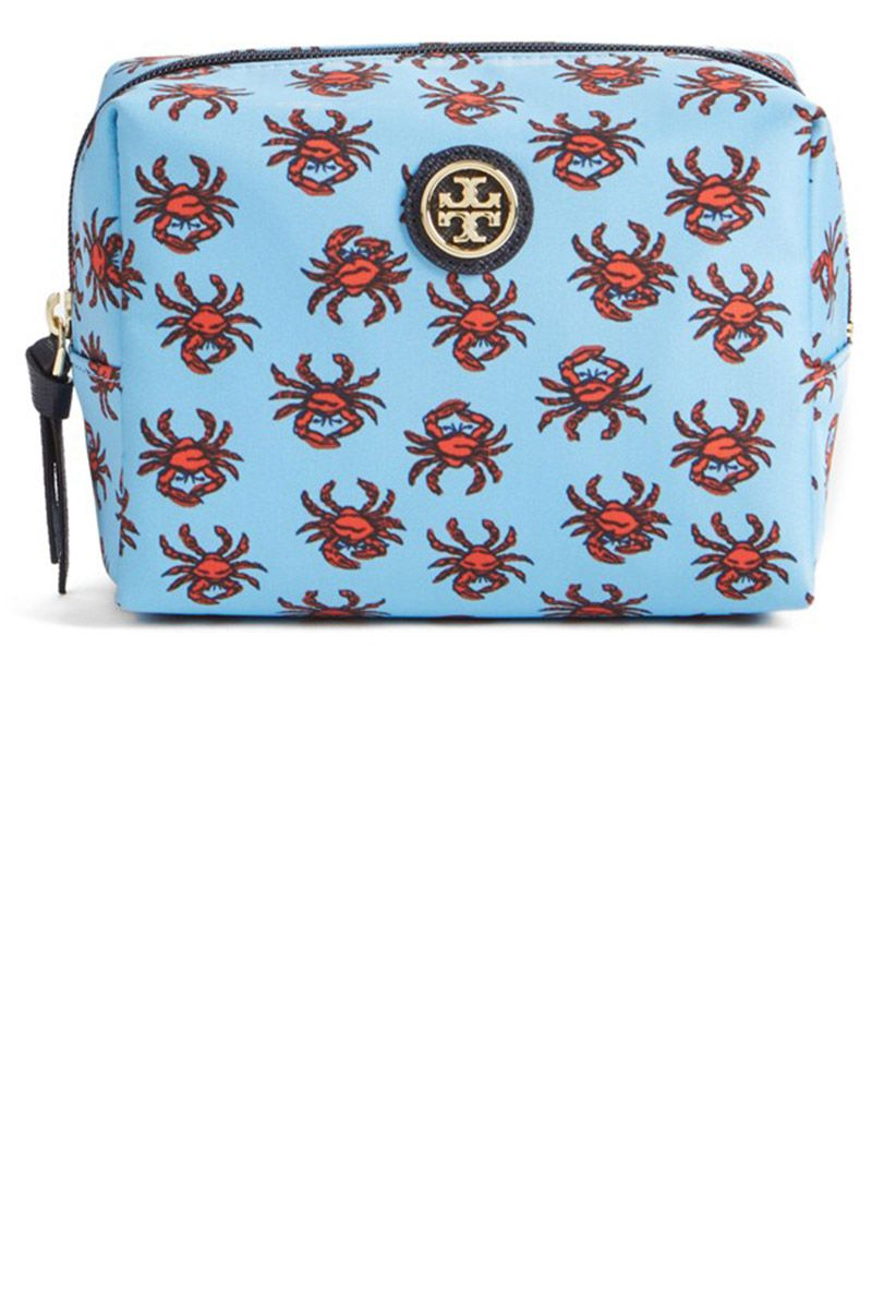 "<p>Ironically, if this crabby kit doesn't put a smile on your face, we don't know what will. </p><p><strong>Tory Burch</strong> Brigitte Nylon Cosmetics Case, $78, <a href=""http://shop.nordstrom.com/s/tory-burch-brigitte-nylon-cosmetics-case/4313239?origin=keywordsearch-personalizedsort&fashioncolor=FRENCH%20GREY%2F%20SILVER"" target=""_blank"">nordstrom.com</a>.</p>"