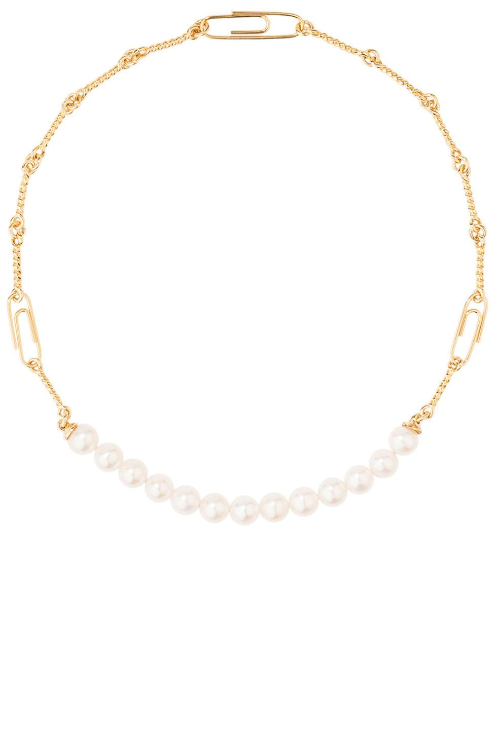 "<p><em>Pearl and gold choker; $585, <a href="" shopBAZAAR.com"" target=""_blank"">shopBAZAAR.com</a></em></p>"
