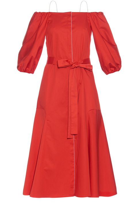 "<p><strong>Anna October </strong>dress, $835, <a href=""http://www.matchesfashion.com/products/Anna-October-Liv-off-the-shoulder-cotton-blend-poplin-dress-1049593"" target=""_blank"">matchesfashion.com</a>.</p>"