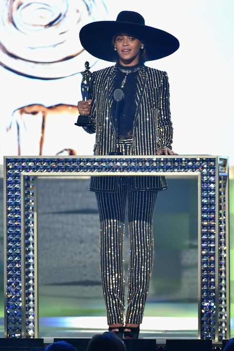 "<p>After making a bold appearance at the Met Gala, Bey dazzled the CFDA audience on June 6 in a sequin suit and her trademark <em data-verified=""redactor"" data-redactor-tag=""em"">Lemonade </em>hat while taking home the <a href=""http://www.harpersbazaar.com/celebrity/red-carpet-dresses/news/a15987/beyonce-cfda-awards-2016/"" data-tracking-id=""recirc-text-link"" data-external=""true"">Style Icon Award</a>. </p>"