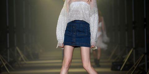 Clothing, Human leg, Denim, Textile, Joint, Street fashion, Waist, Fashion, Thigh, Knee,