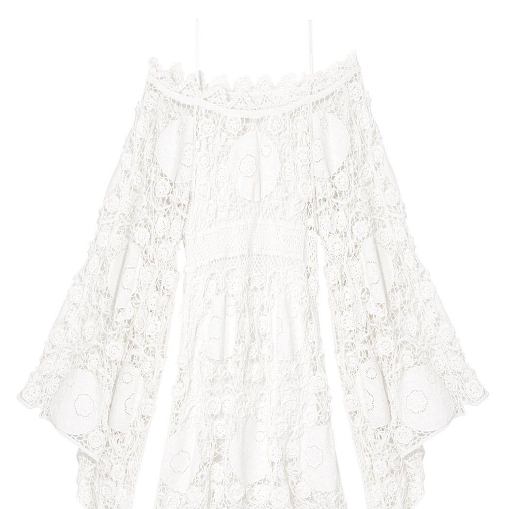 "<p><strong>Chloé</strong><strong></strong> dress, $3,895, <a href=""https://shop.harpersbazaar.com/designers/c/chlo/handmade-crochet-dress-with-embroidered-flowers-8336.html"" target=""_blank"">shopBAZAAR.com</a>. </p>"