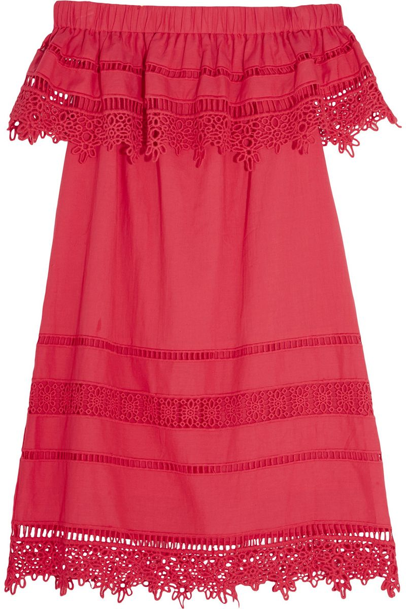 "<p><strong>SEA</strong> dress, $415, <a href=""https://www.net-a-porter.com/us/en/product/730378/SEA/crochet-paneled-cotton-voile-mini-dress"" target=""_blank"">net-a-porter.com</a>.</p>"