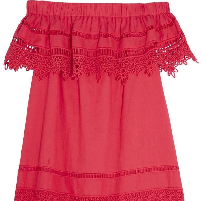 "<p><strong>SEA</strong> dress, $415, <a href=""https://www.net-a-porter.com/us/en/product/730378/SEA/crochet-paneled-cotton-voile-mini-dress"" target=""_blank"">net-a-porter.com</a>.</p>"
