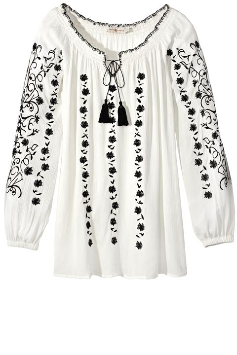 "<p><strong>Tory Burch</strong> tunic, $295, <a href=""http://www.toryburch.com/"" target=""_blank"">toryburch.com</a>. </p>"