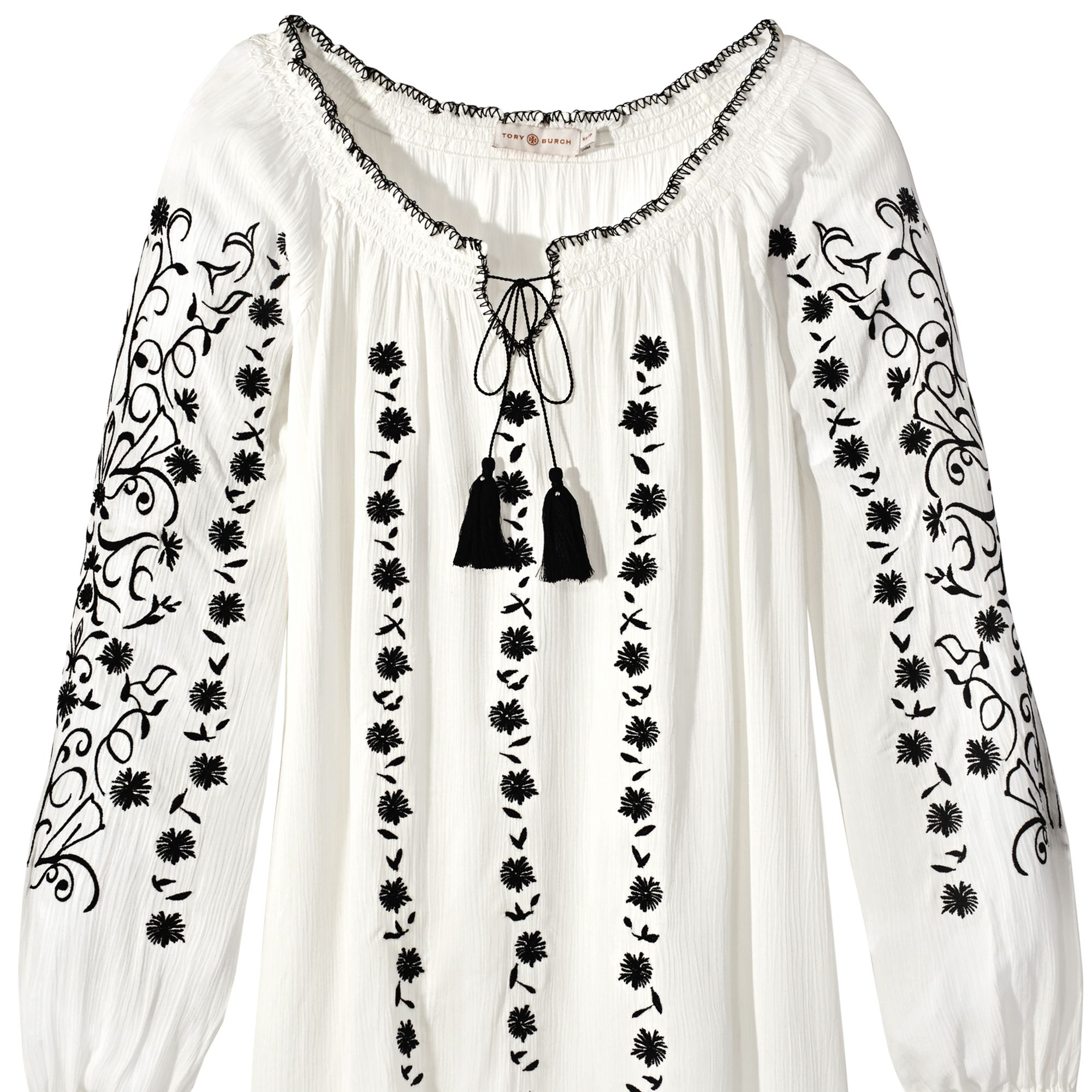 """<p><strong>Tory Burch</strong> tunic, $295, <a href=""""http://www.toryburch.com/"""" target=""""_blank"""">toryburch.com</a>. </p>"""