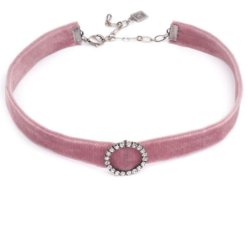 "<p><strong>DANNIJO</strong> choker, $98, <a href=""http://dannijo.com/jewelry/chokers/cindy-choker-pink-1.html"" target=""_blank"">dannijo.com</a>. </p>"