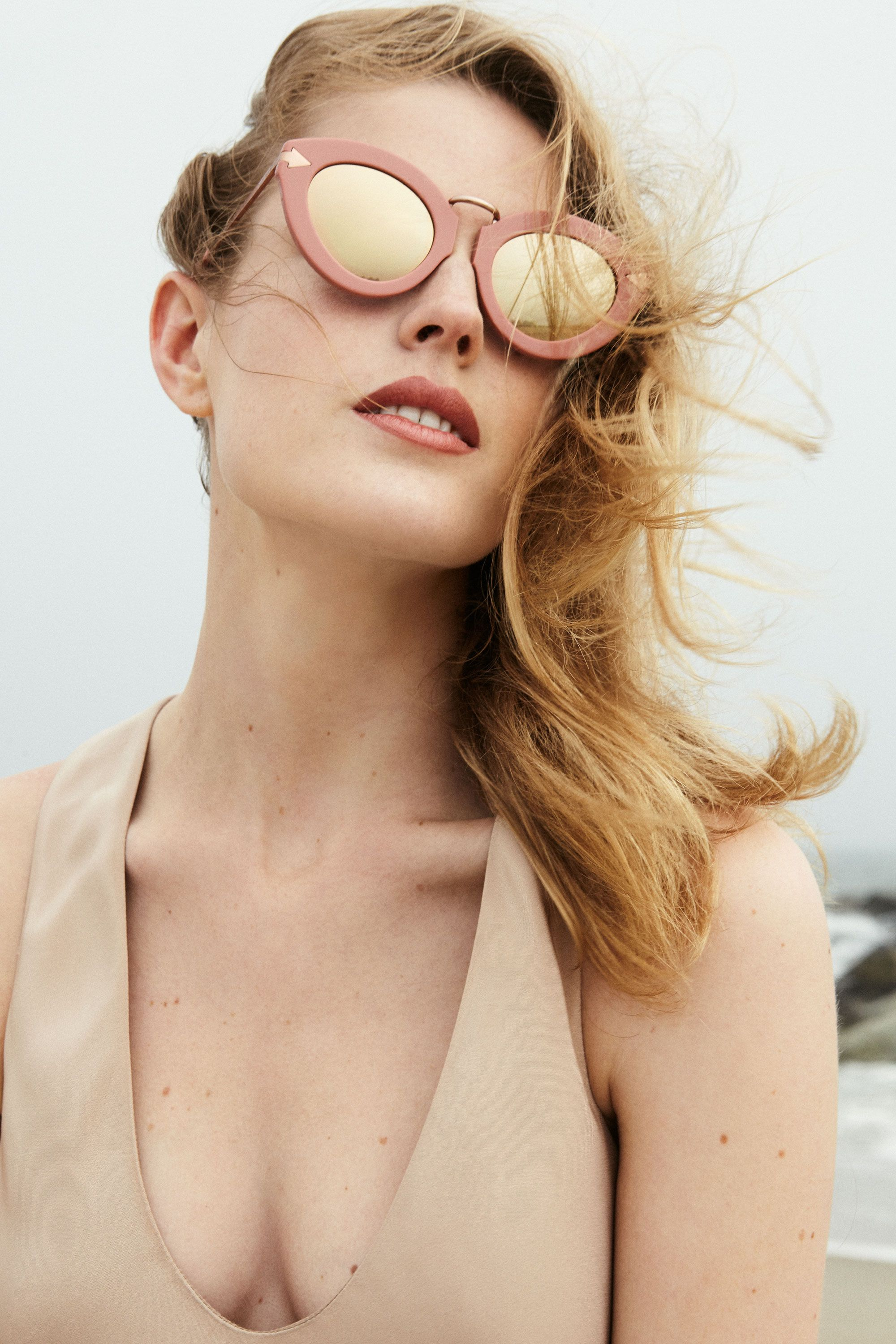 "<p>Consider pink a new neutral for sunglasses that works for a variety of skin tones. Go for a one-two tonal punch with a flushed, natural lip that gives off 1960s French girl vibes.</p><p><br></p><p>Her Lip: <em><strong>Tom Ford</strong> Lip Color Matte in Pink Tease, $52, </em><a href=""http://shop.nordstrom.com/s/tom-ford-lip-color-matte/3900236?&cm_mmc=Mindshare_Nordstrom-_-JuneShoes-_-Hearst-_-proactive"" target=""_blank""><em>nordstrom.com</em></a> </p><p><br></p><p>Her Look: <em><strong>Karen Walker</strong> 'Lunar Flowerpatch' 49mm Sunglasses, $300, </em><em><a href=""http://shop.nordstrom.com/s/lunar-flowerpatch/4290543?&cm_mmc=Mindshare_Nordstrom-_-JuneShoes-_-Hearst-_-proactive"" target=""_blank"">nordstrom.com</a>; <strong>Tibi </strong>Silk Bias Dress, $398, </em><a href=""http://www.tibi.com/shop/sale/dresses/silk-bias-dress-41334"" target=""_blank""><em>tibi.com</em></a></p>"