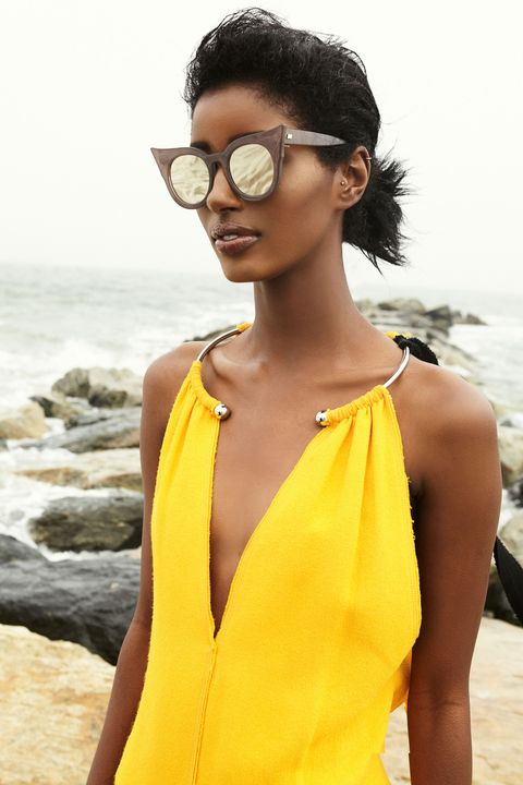 "<p>Bring on the drama with a bold pair of retro-inspired sunnies. And don't be afraid of gloss: A coat of oil-slick lacquer complements these mirrored lenses perfectly. Just remember: Stick to a close-to-nude color when going for a high shine finish.</p><p><br></p><p>Her Lip: <em><strong>Burberry Beauty</strong> 'Kisses' Lip Gloss in Pale Nude, $29, </em><a href=""http://shop.nordstrom.com/s/burberry-beauty-kisses-lip-gloss/4113911?&cm_mmc=Mindshare_Nordstrom-_-JuneShoes-_-Hearst-_-proactive"" target=""_blank""><em>nordstrom.com</em></a></p><p><br></p><p>Her Look: <em><strong>Le Specs</strong> 'Flashy' 51mm Sunglasses, $69, </em><em><a href=""http://shop.nordstrom.com/s/le-specs-flashy-51mm-sunglasses/4290909?&cm_mmc=Mindshare_Nordstrom-_-JuneShoes-_-Hearst-_-proactive"" target=""_blank"">nordstrom.com</a>; <strong>Proenza Schouler</strong> Sleeveless Dress, $2,750, </em><a href=""https://www.proenzaschouler.com/sleeveless-dress-r163304-by068.html?color=Bright%20Tangerine"" target=""_blank""><em>proenzaschouler.com</em></a></p>"